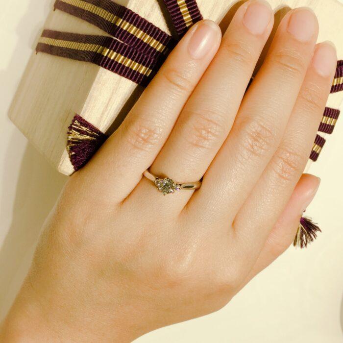 白鈴  婚約指輪 プロポーズリング 0.4ct
