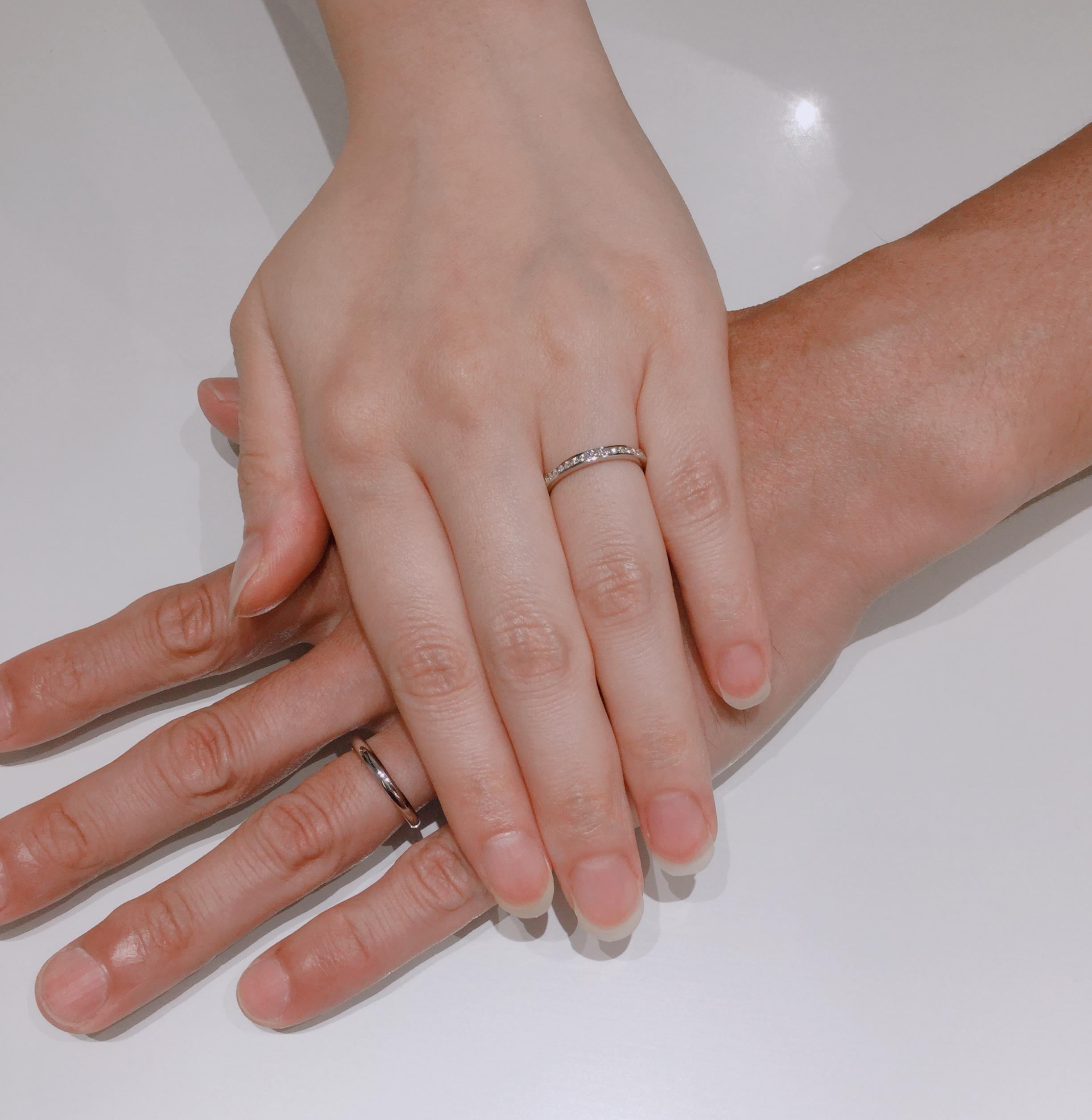 ハーフエタニティ 結婚指輪