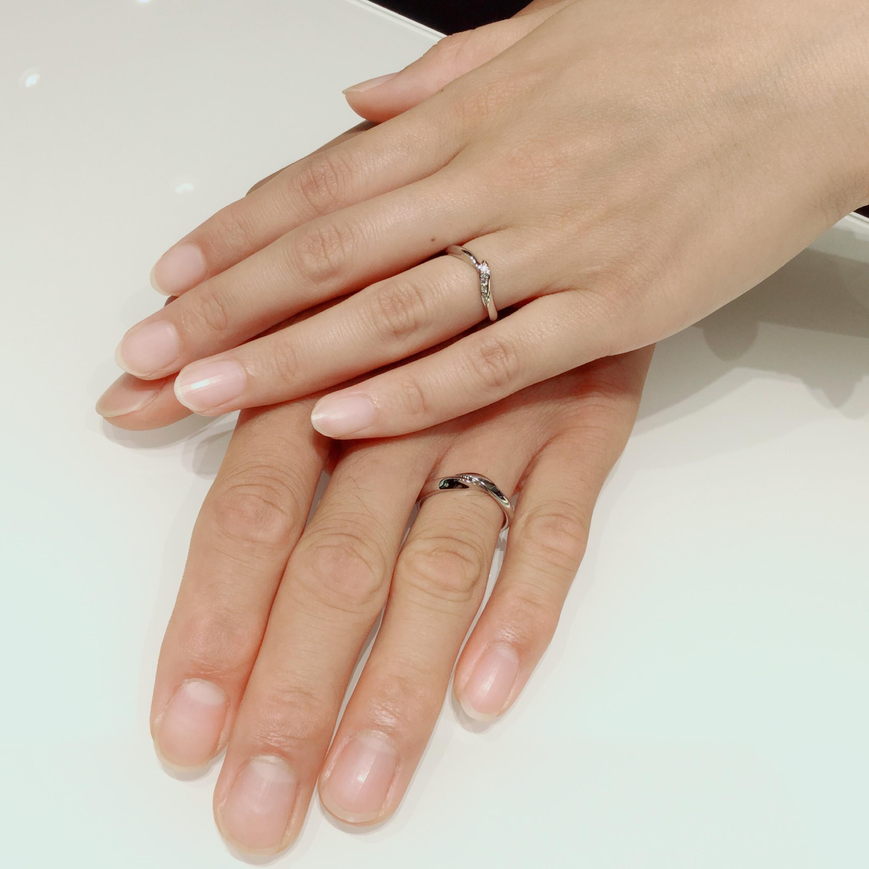 最初に着けた指輪に決めました。NIWAKA・初桜の結婚指輪をご成約。新潟県柏崎市K様・M様