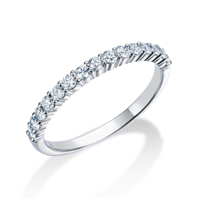 ロイヤルアッシャー婚約指輪(エンゲージリング)ハーフエタニティリング 画像