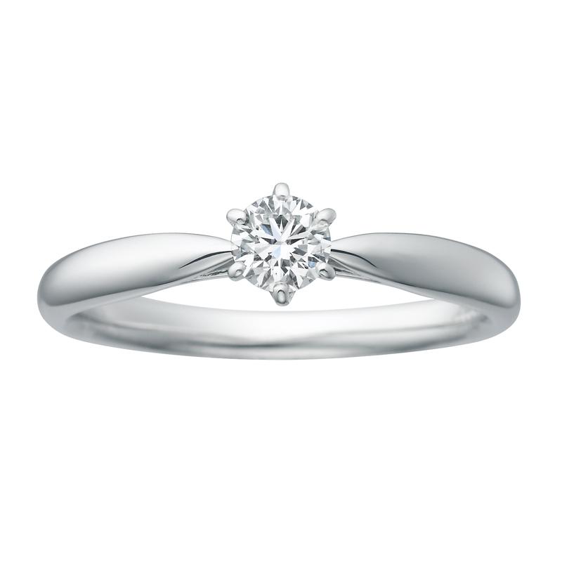 究極のシンプル 婚約指輪