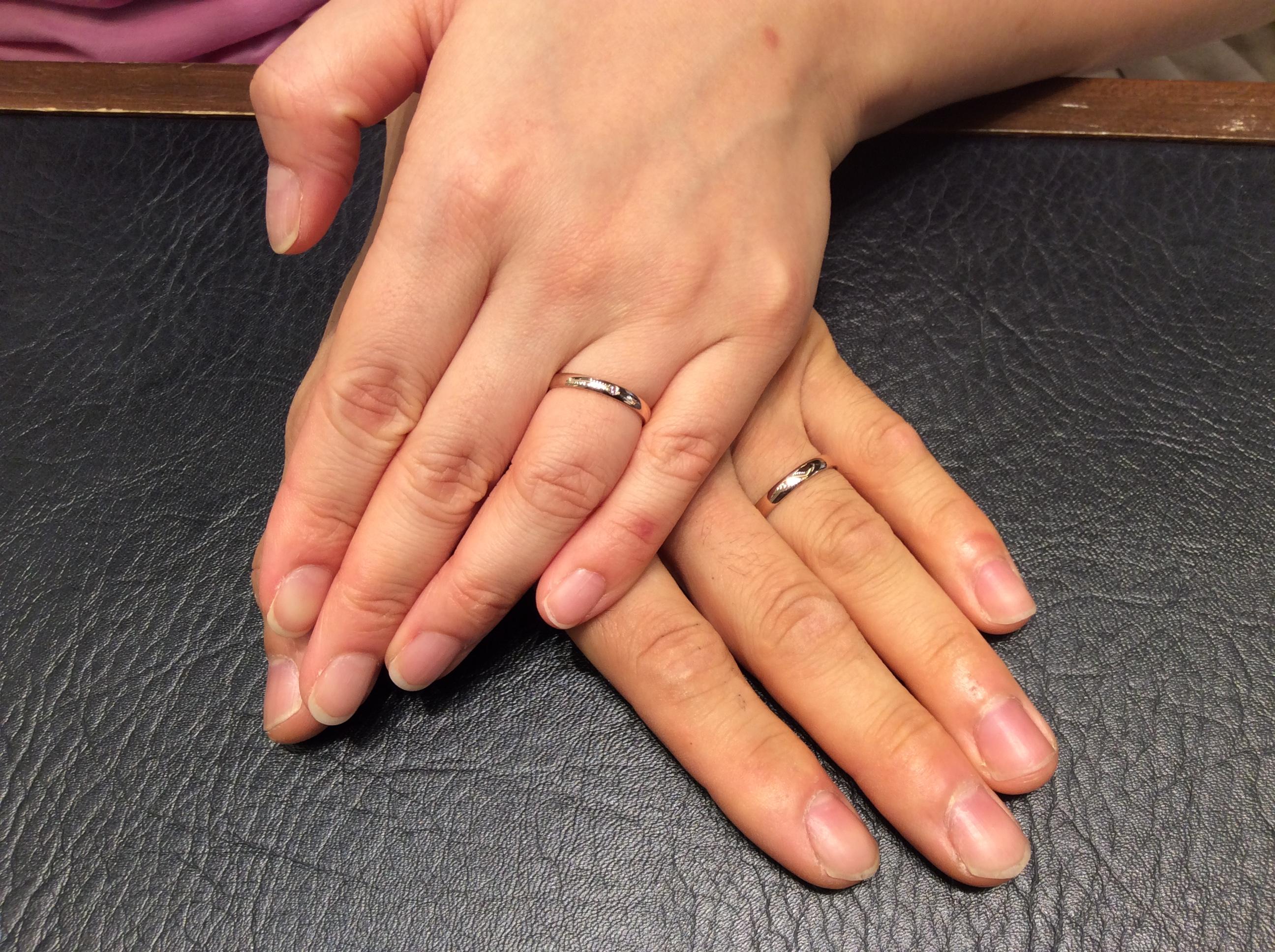 【ことほぎ】俄(にわか)の結婚指輪をご成約/江南区S様&A様