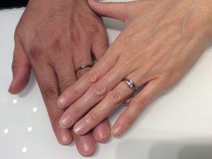重ねづけもぴったりでした!カフェリングの結婚指輪「ノエル」をご成約/K様&K様ご夫婦