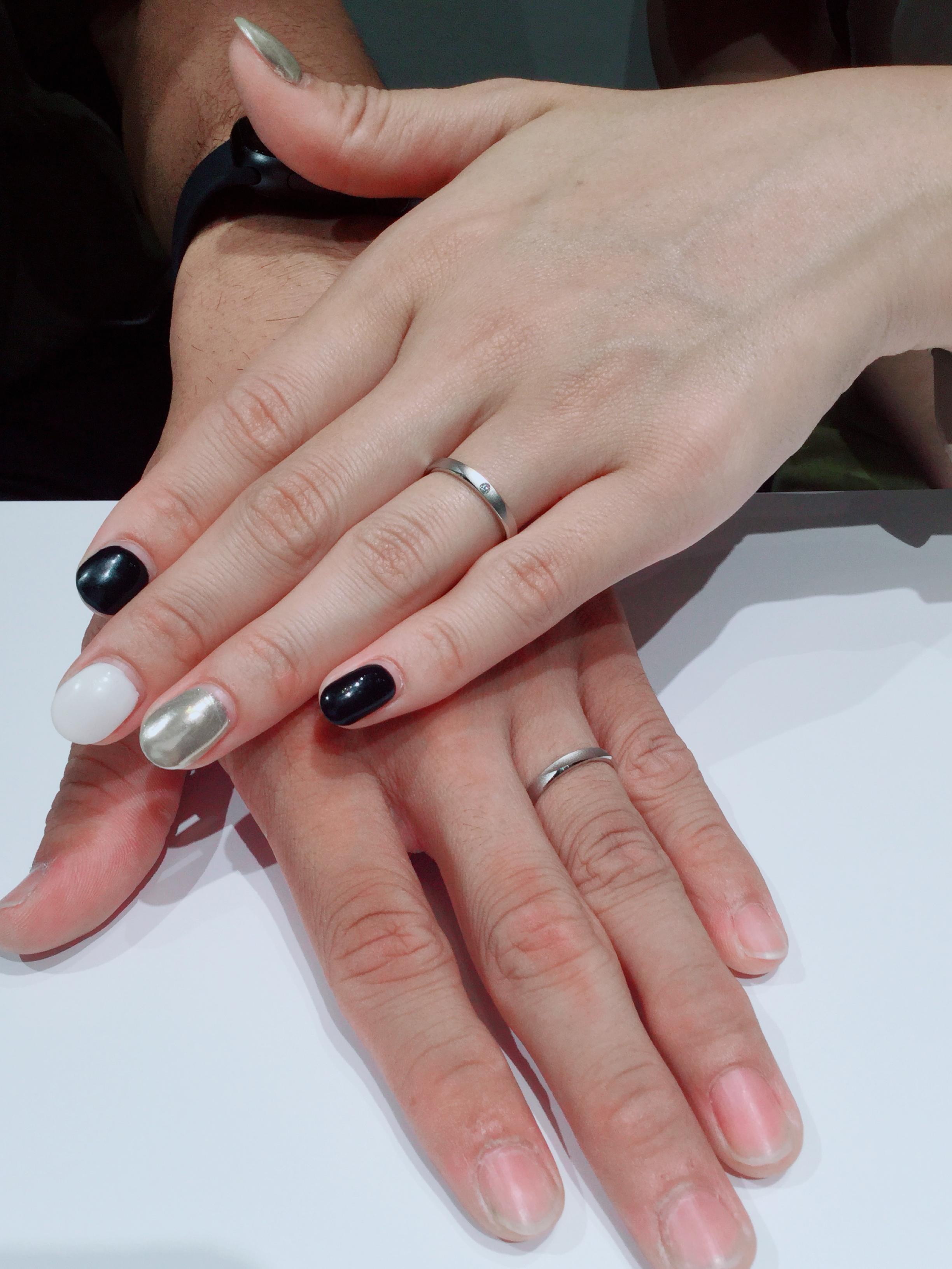 マット(つや消し)の結婚指輪 ラザールダイヤモンドをご成約 新潟県三条T様・M様