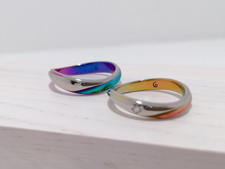 【インスタ映え】色鮮やかなSORA(ソラ)の結婚指輪をご成約|新潟県魚沼市T様・M様