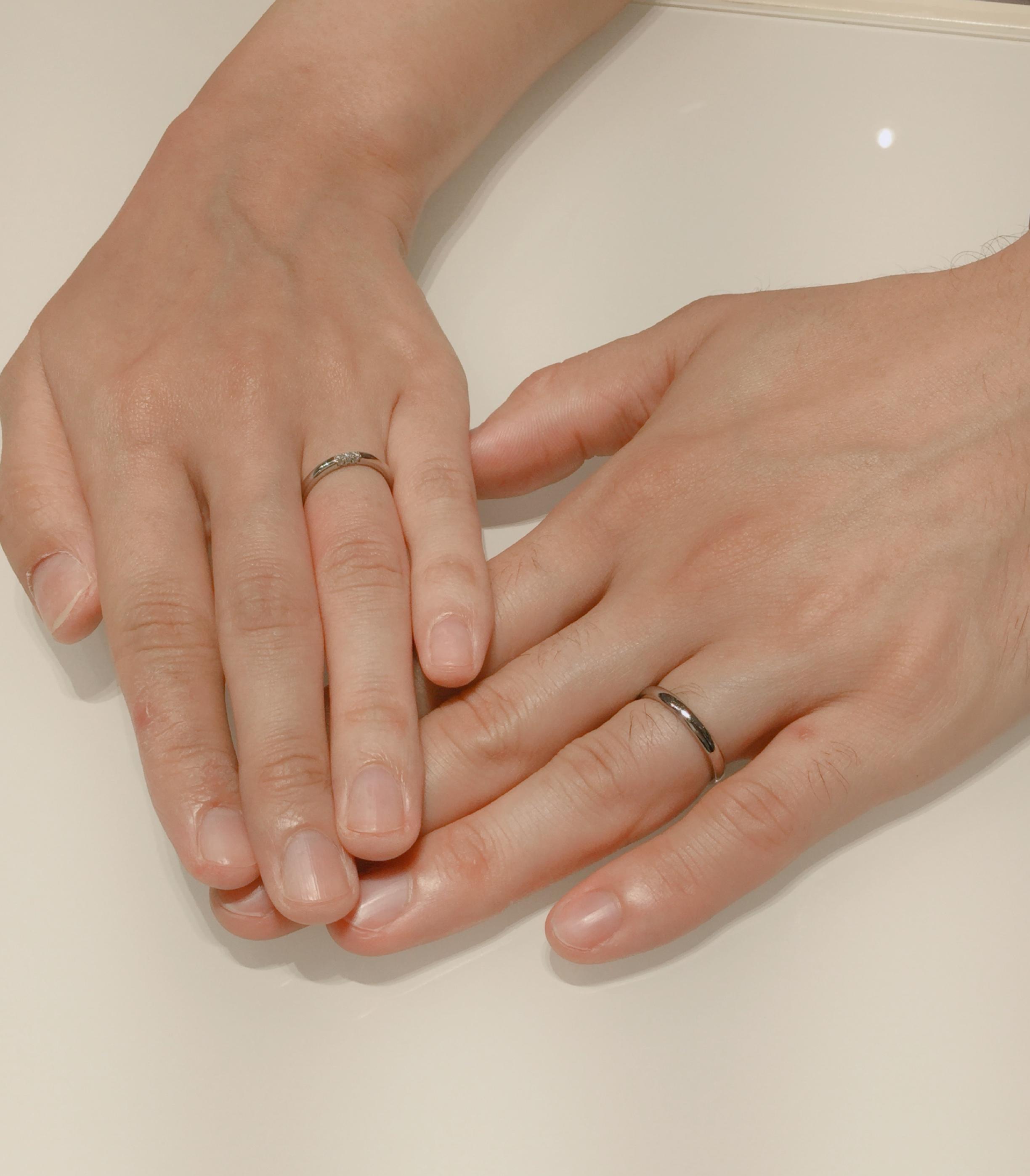 控えめなダイヤに一目惚れ/ラザールダイヤモンド・フェアリーの結婚指輪をご成約。長岡市K様・柏崎市S様