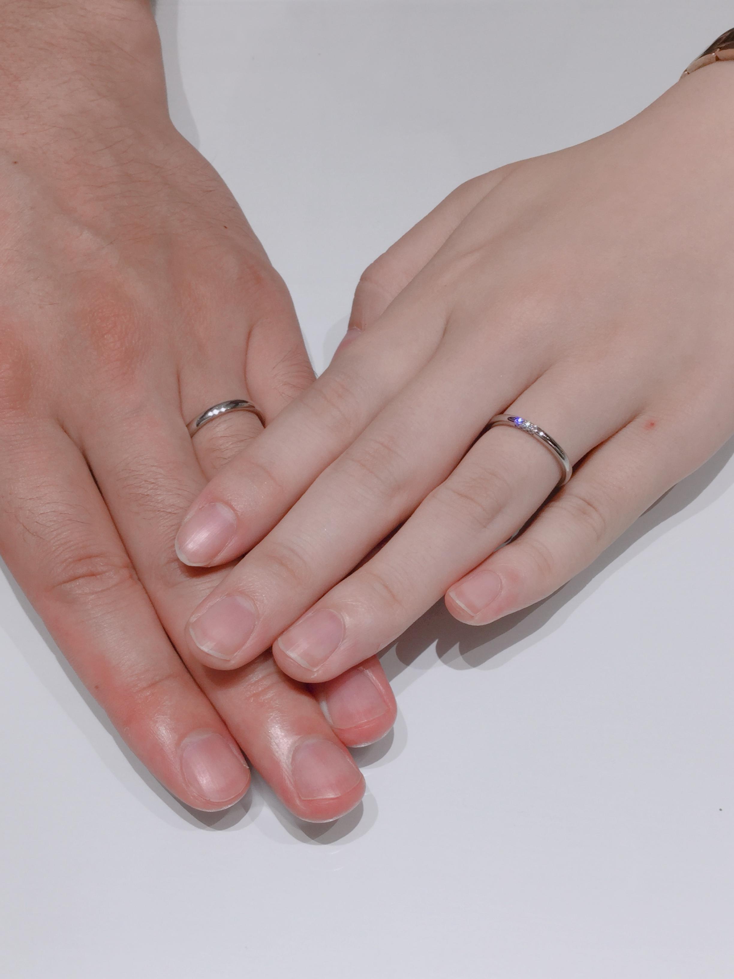 お客様フォト フェアリープラチナムの結婚指輪