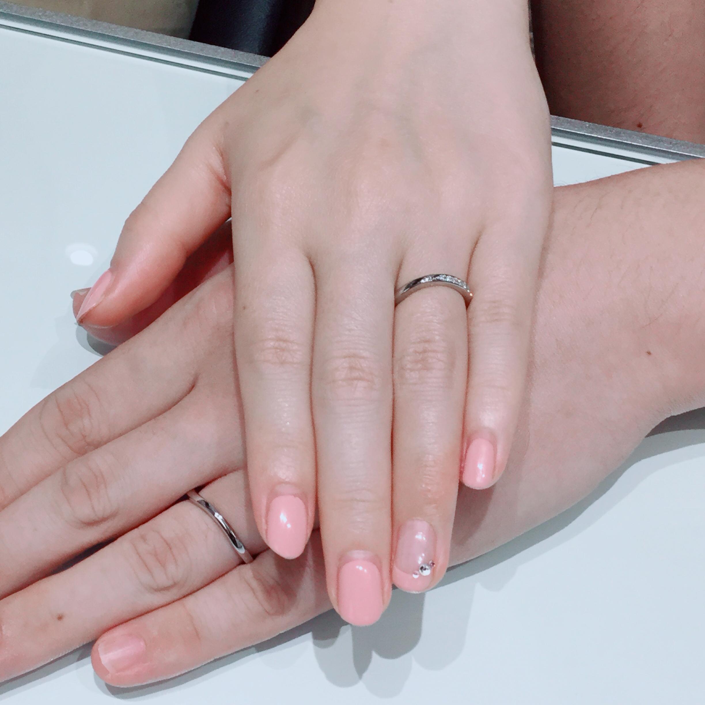 指輪のフォルムが綺麗|ロイヤルアッシャーの結婚指輪をご成約 新潟市Y様・R様