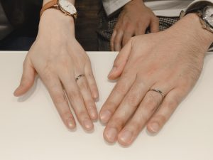 SO アクアマリンの結婚指輪