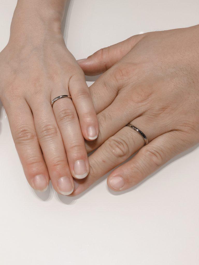 雪佳景の結婚指輪 プラチナゴールド