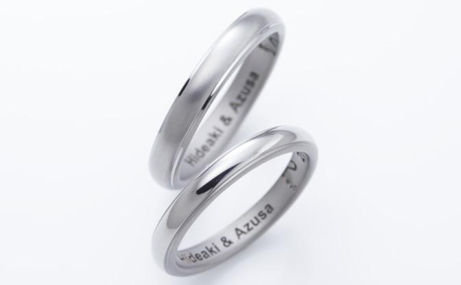 チタン素材の結婚指輪