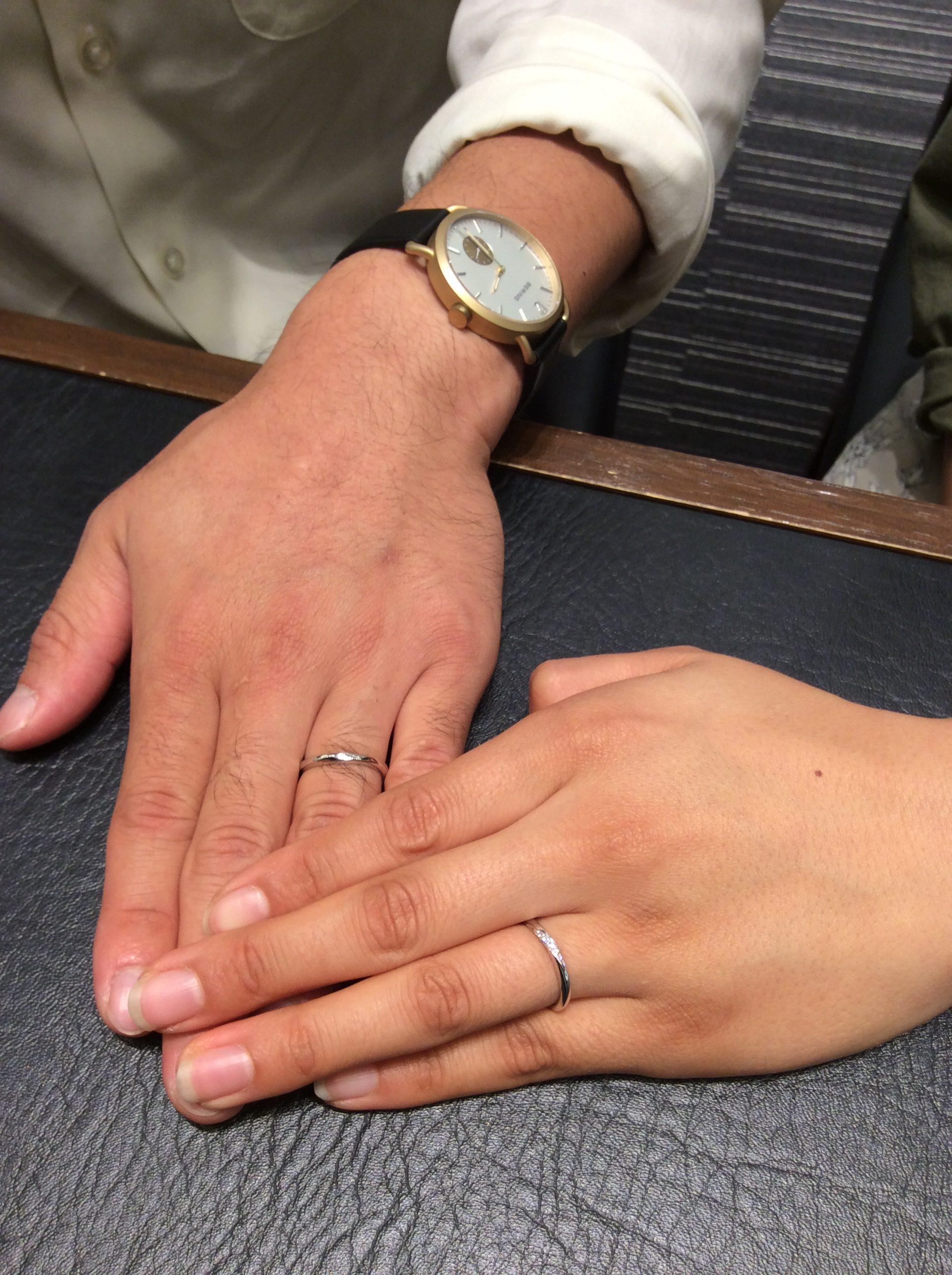 俄(にわか) NIWAKA 結婚指輪 朝葉