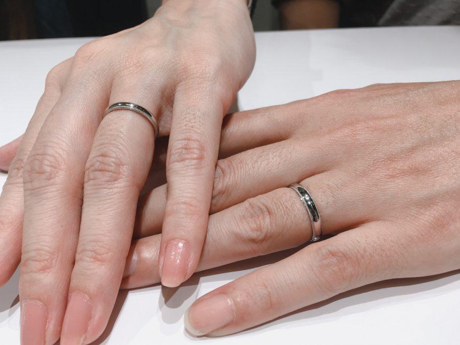 結婚指輪『ことほぎ』ミル打ちアレンジ