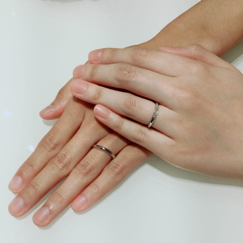高品質なダイヤモンドの結婚指輪