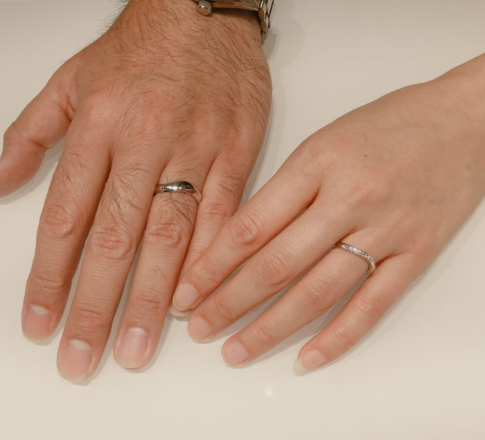 幅広・太い結婚指輪|ルシエのセレナーデをご成約 長岡市M様・N様