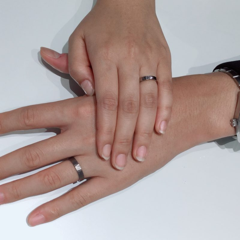 他にないデザインが決め手|SORAの結婚指輪をご成約 南魚沼市N様・K様