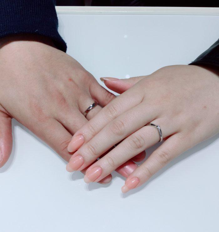 【俄の初桜・細タイプ】結婚指輪をご成約 新潟市J様・I様