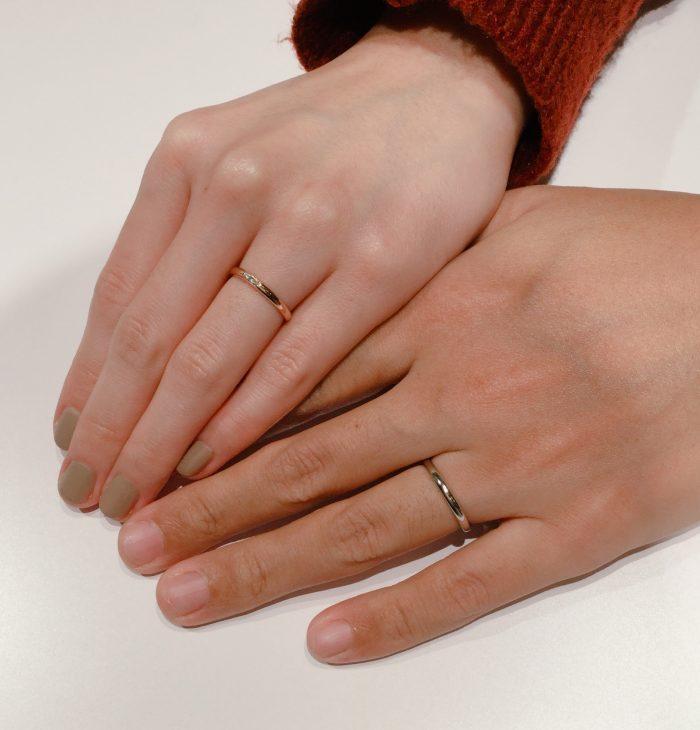 誕生石が入るSOの結婚指輪