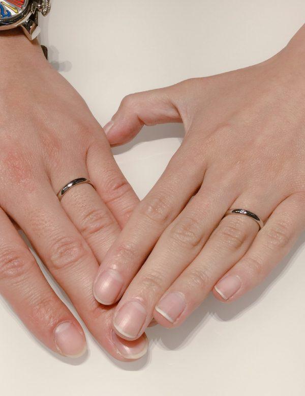 サムシングブルーの結婚指輪「アイテール」