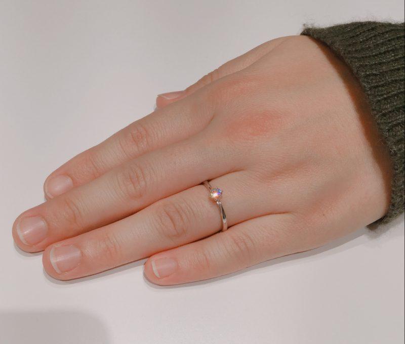 NIWAKA/俄の花雪(はなゆき)を一目惚れ|婚約指輪をご成約 新潟市S様・M様