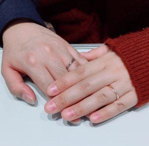 ブラックダイヤモンドの結婚指輪「ラピュール」