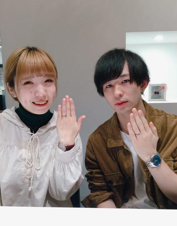 カスタマイズできる結婚指輪|SORAのレイをご成約 新潟県新潟市・群馬県高崎市R様・A様
