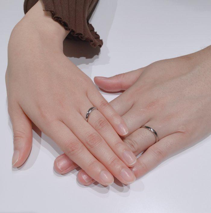 【俄の凛】NIWAKAの結婚指輪をご成約 新潟市Y様・M様