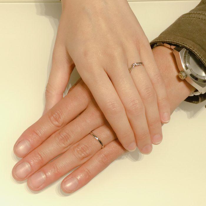 【俄・初桜/ことのはの結婚指輪】二人で好きなデザインをご成約 佐渡市W様・M様