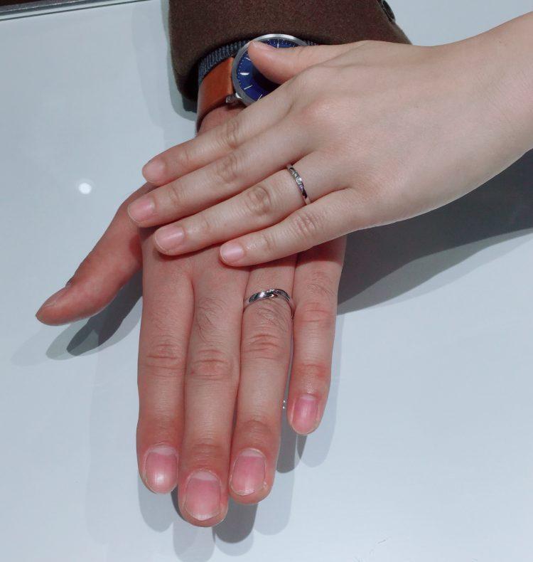 お互いが好きなデザインで|俄とラザールダイヤモンドの結婚指輪をご成約 新潟市・上越市K様・C様