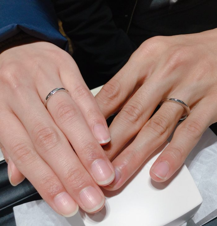 【俄の結婚指輪・朝葉】NIWAKAのブライダルリングをご成約 新潟県新発田市・新潟市R様・T様