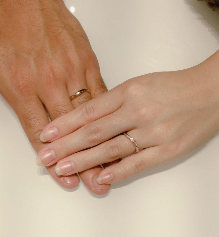 ピンクゴールドの結婚指輪|ルシエのセレナーデをご成約 長岡市・三条市N様・M様