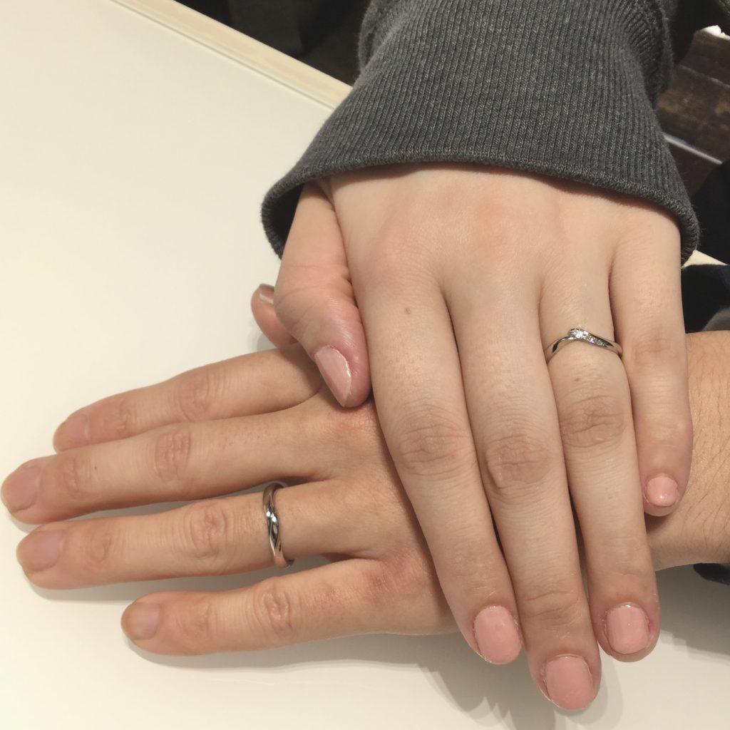 一目惚れ!NIWAKAの結婚指輪「初桜(ういざくら)」をご成約(新発田市/Y様・R様)