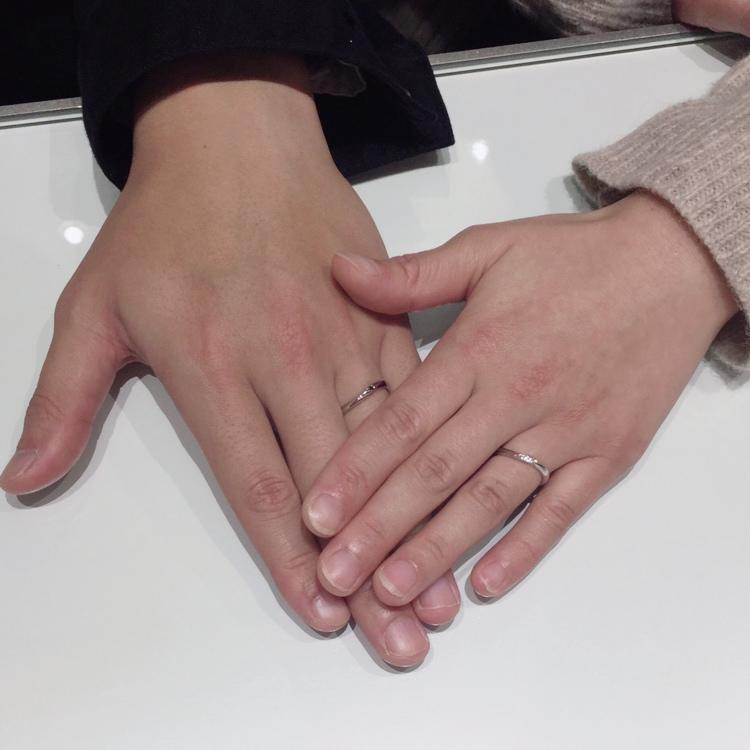 """【ブラックダイヤモンド】LAPUR(ラピュール)の結婚指輪""""クール""""をご成約(新潟市/E様・A様)"""