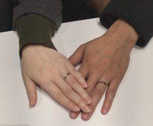 【ロイヤル・アッシャー】白く輝くダイヤモンドが決め手!結婚指輪をご成約(上越市/M様・Y様)