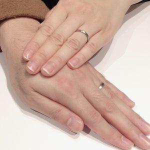 【京杢目】日本の伝統技法を用いた木目模様の結婚指輪「長閑(のどか)」をご成約(新潟市/Y様・Y様)