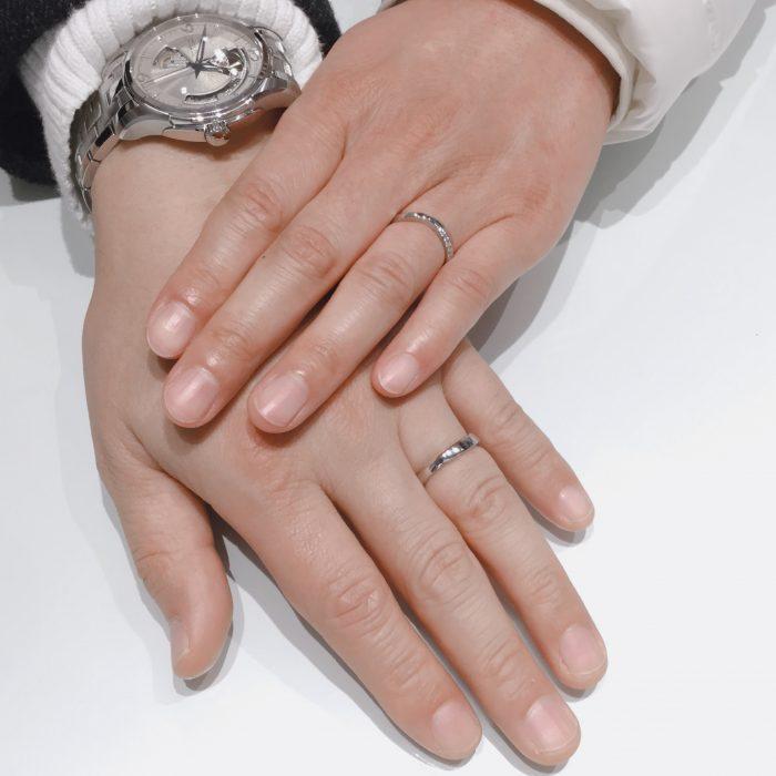 指輪の形が綺麗だった|NIWAKAの茜雲をご成約 長岡市Y様・M様