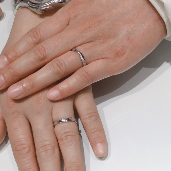 NIWAKAの結婚指輪「茜雲」