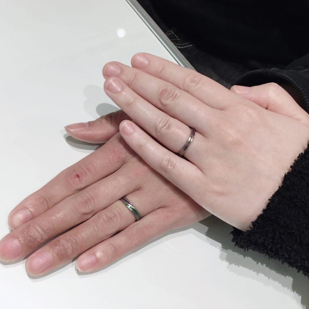 【SORA(ソラ)】オーダー会で叶える特別なアレンジの結婚指輪「モンスーン」(長岡市/Y様・M様)