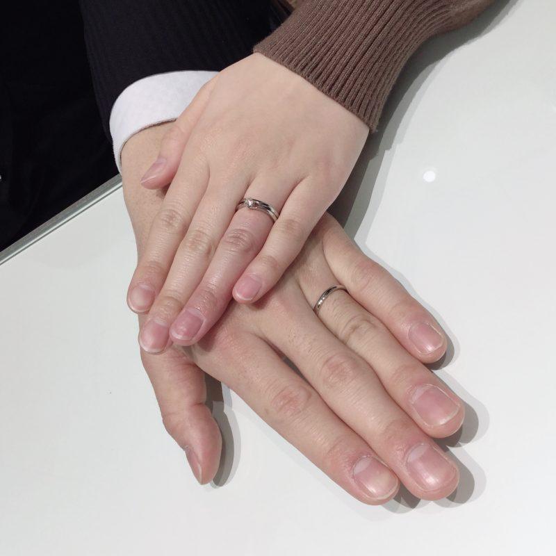 【フェアリープラチナム】世界で最も美しいラザールダイヤモンドの結婚指輪をご成約(三条市・燕市/M様・H様)