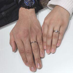 世界一の輝きを重ねづけ!ラザールダイヤモンド【フェアリー】婚約指輪「エーデルワイス」結婚指輪「ポピー」をご成約(新潟市/T様・K様)