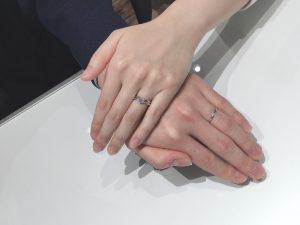 上品な婚約指輪・結婚指輪|NIWAKA(俄/にわか)「白鈴」「ことのは」をご成約(新潟市/T様・S様)