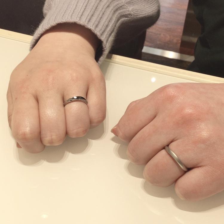 NIWAKA(俄/にわか)|結婚指輪「凛(りん)」つや消し/マット仕上げでご成約(燕市/Y様・S様)