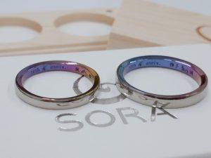 刻印にもこだわりを!SORA(ソラ)結婚指輪「ヌーボラ」をご成約(新潟市/M様・M様)
