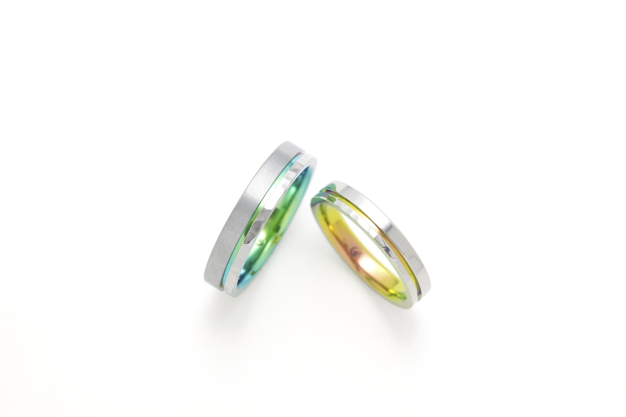 SORAの槌目の結婚指輪「ホライズン」
