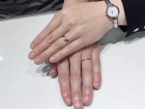 LUCIE(ルシエ)の新作ご結婚指輪「ブリーズドゥメール」をご成約(五泉市/K様・R様)