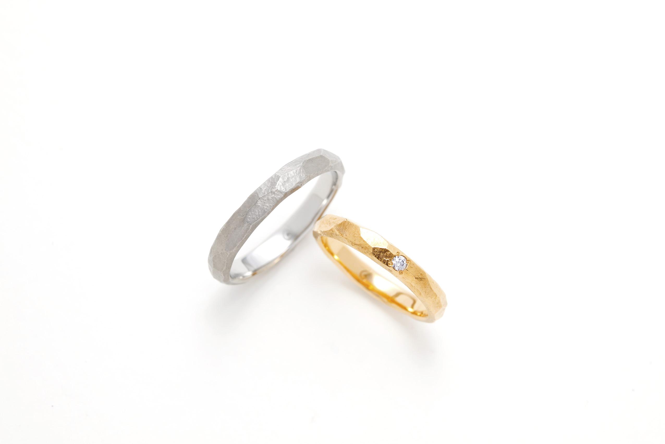 SORAの槌目の結婚指輪「ウル」
