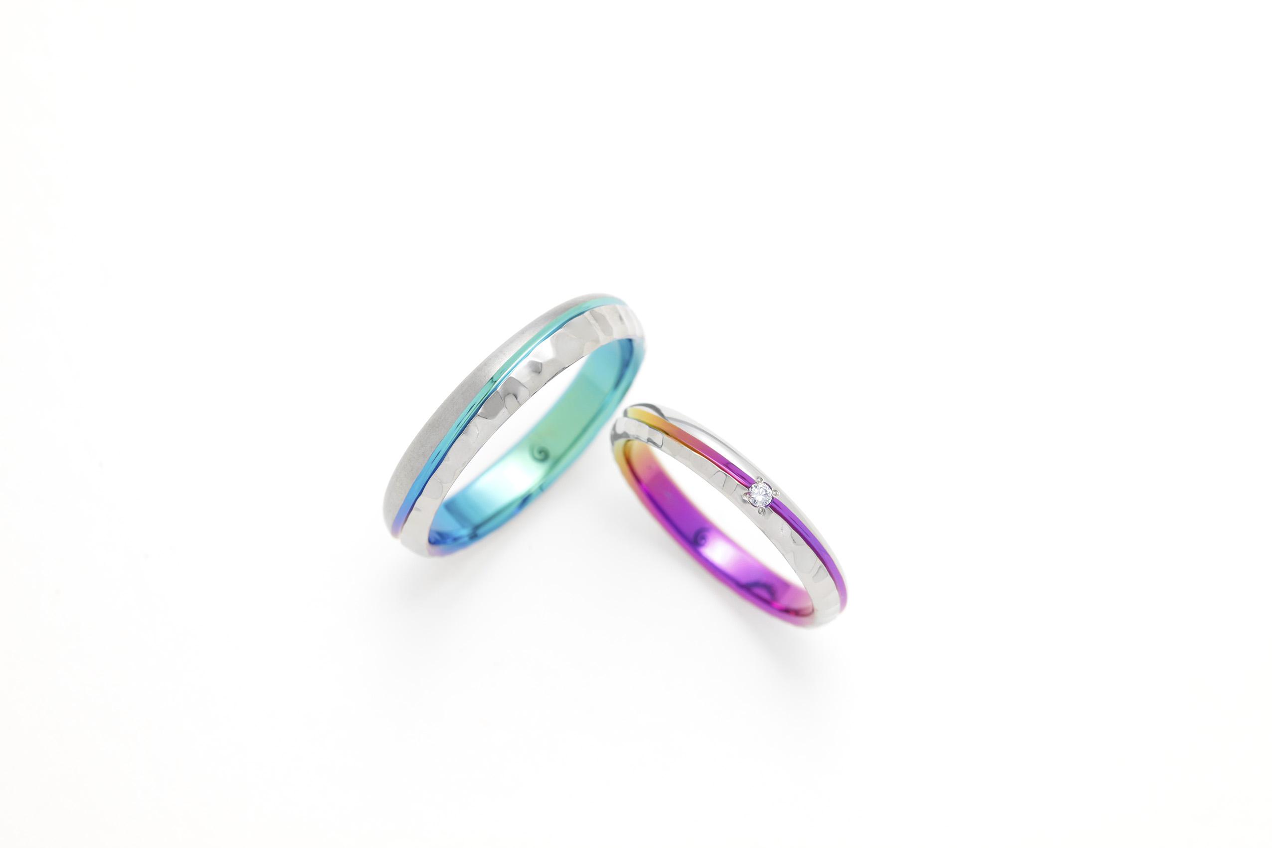 SORAの槌目の結婚指輪「コースト」