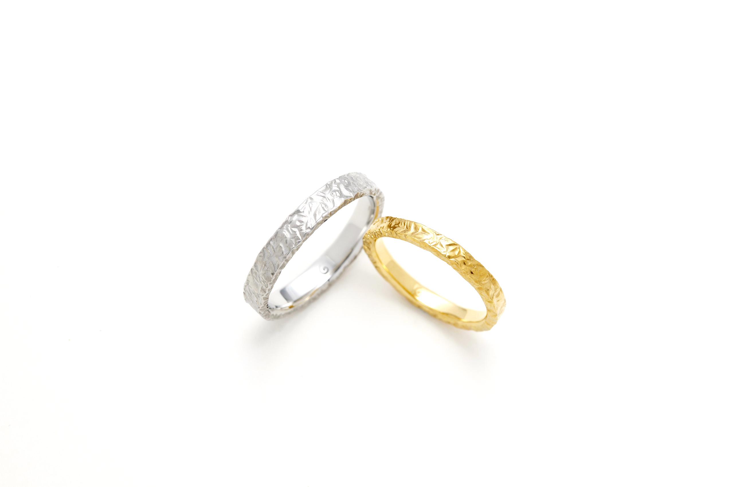 SORAの槌目の結婚指輪「チューリング」
