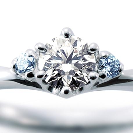 CAFERING-カフェリング- アイスブルーダイヤモンドの婚約指輪