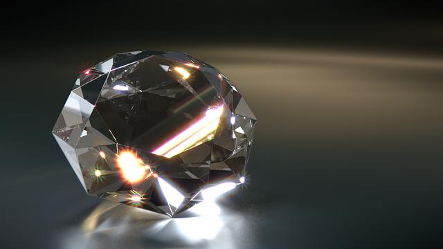 綺麗なダイヤモンド